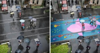 Colorful Murals On Roads