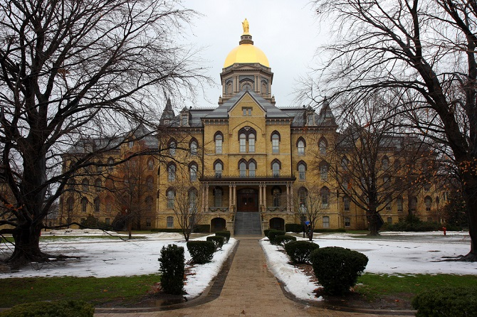 Notre Dame in South Bend