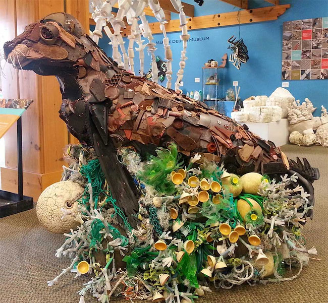 Sculptures Made Entirely Of Beach Waste