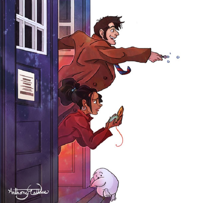 The 10th Doctor and Martha Jones