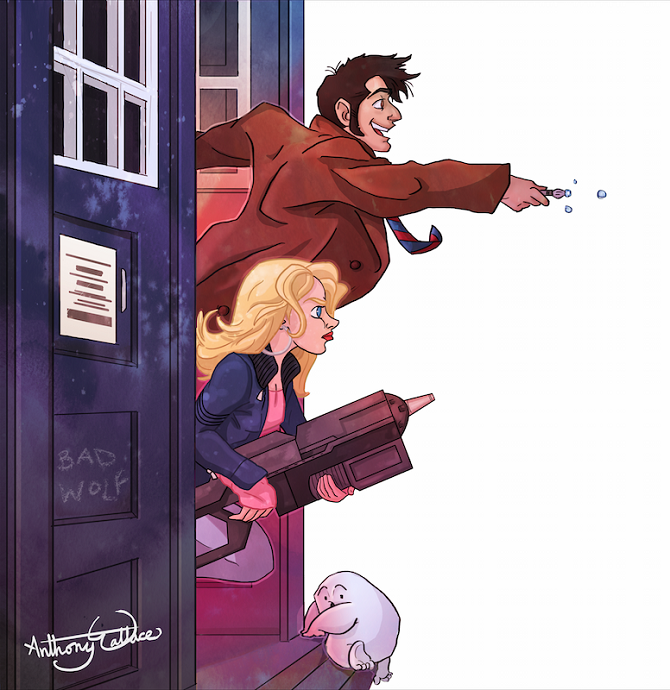 The 10th Doctor and Rose Tyler