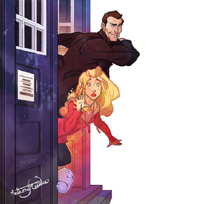 The 9th Doctor and Rose Tyler
