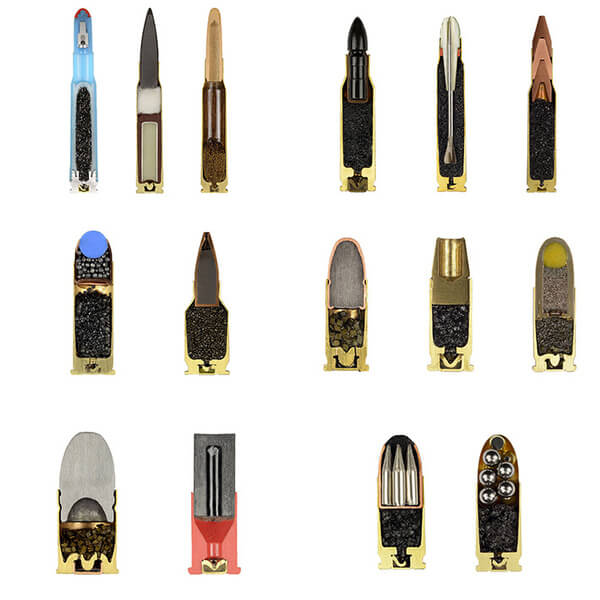 15 different bullets
