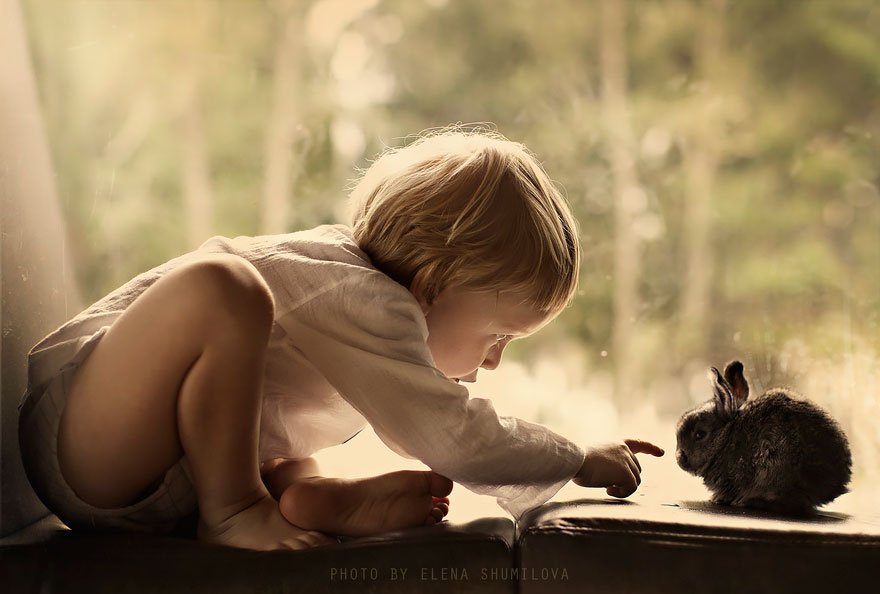 Photos of Kids With Animals