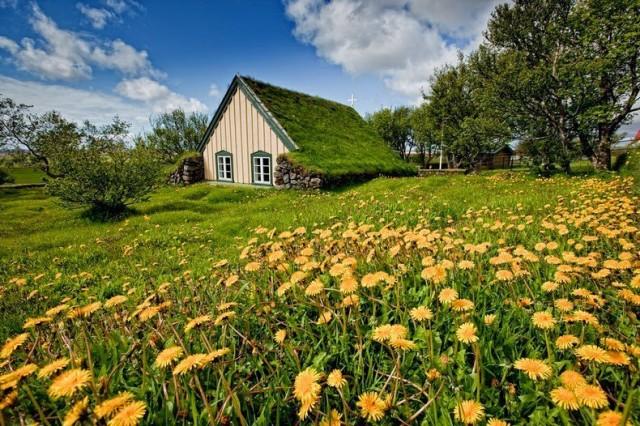 Turf Church in Iceland