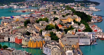 Alesund city in Norway