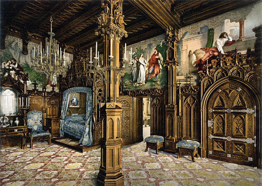 Bedroom, Neuschwanstein Castle, south of Munich