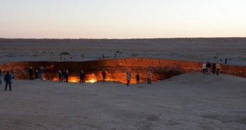 Burning Gas Crater in the Karakum Desert