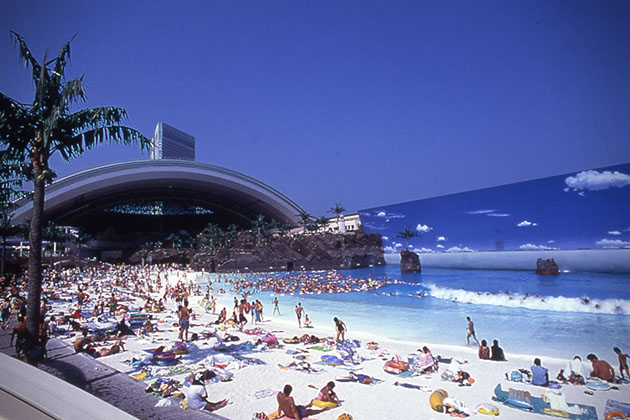 The Largest Indoor Beach In The World - Indoor man made beach japan incredible