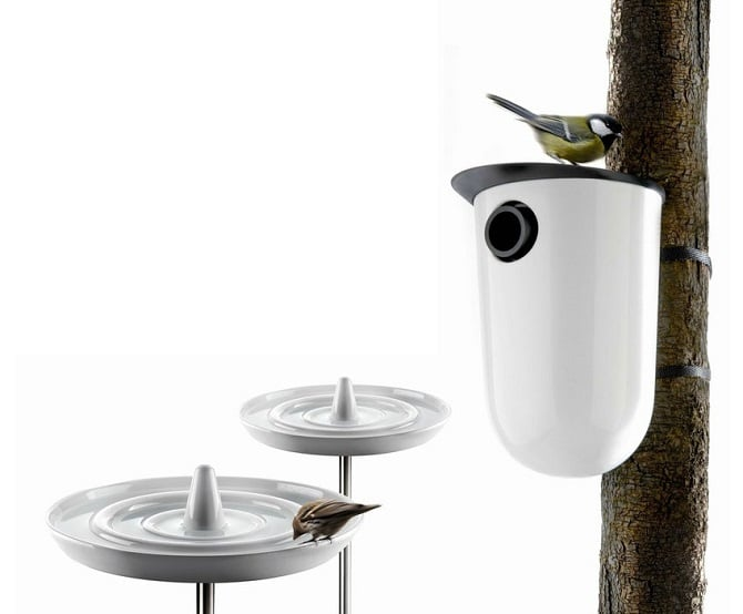 Eva Solo Ceramic Bird Bath and Nesting Box