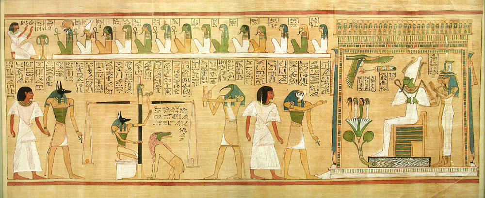 Judgment scene from the Book of the Dead