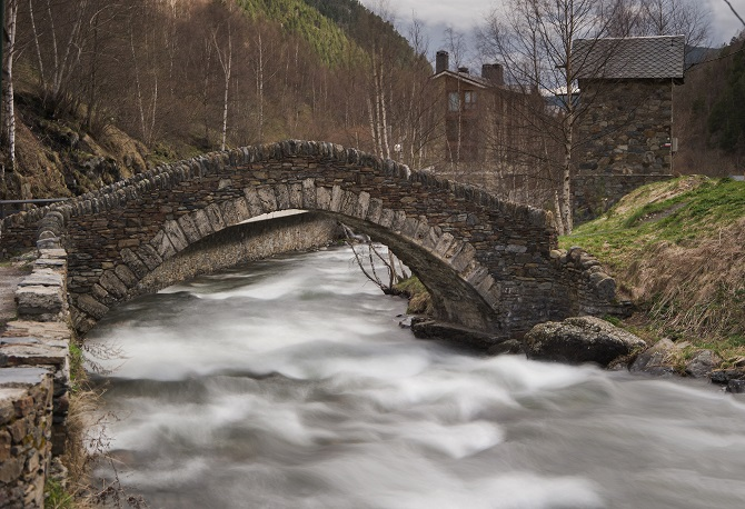 The Romanesque Bridge of Ordino