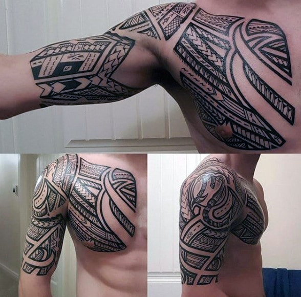 Sleeve Tattoo Image: 40 Most Awesome Half Sleeve Tattoos For Men