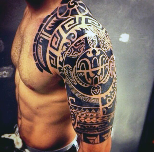 awesome tribal half sleeve tattoos for men – Lazy Penguins