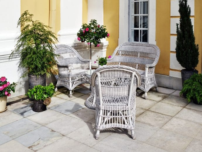 6 great tips for looking after your wicker outdoor furniture