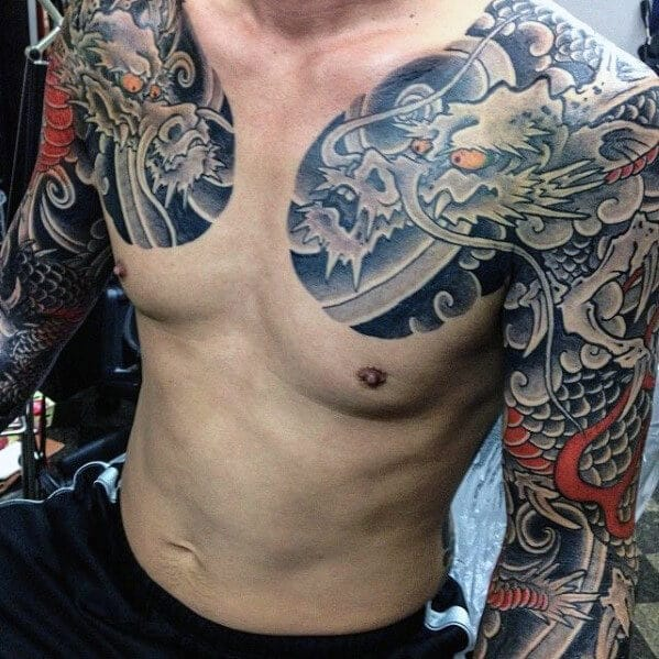 mens-dragon-tattoo-on-chest