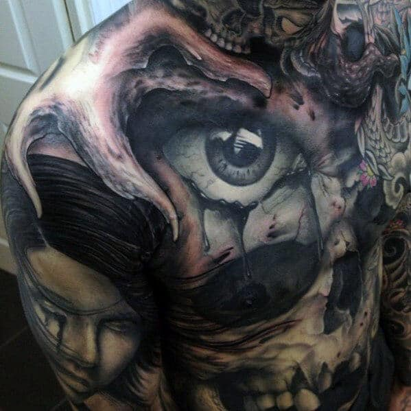 mens-skull-chest-tattoos
