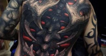 best-3d-spine-tattoo-for-men-with-glowing-red-ink-optical-illusion