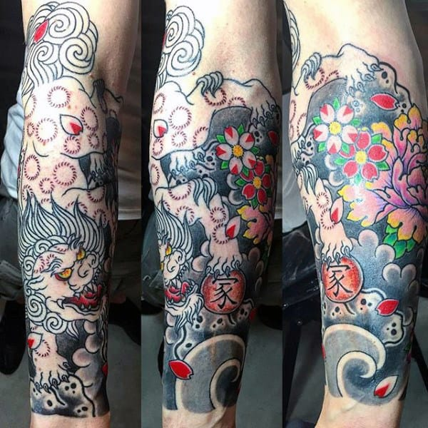 colorful-mens-flower-tattoos