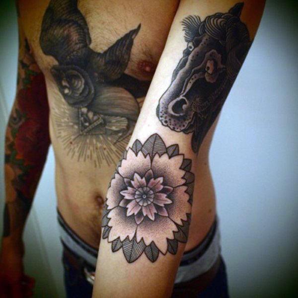 Lotus Flower Tattoo Design Inspiration For Men Lazy Penguins