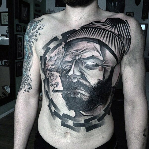lumberjack-stomach-tattoo-designs-for-guys-with-chain-idea