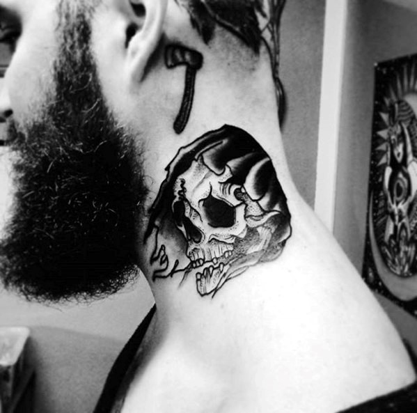 grim-reaper-skull-with-black-hood-mens-traditional-neck-tattoo