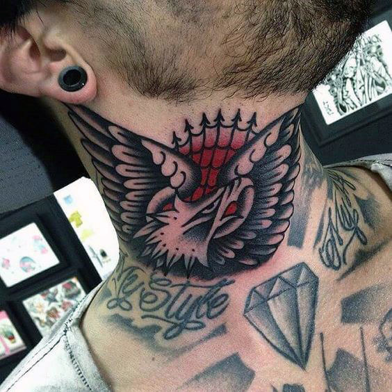man-with-cool-eagle-shaded-black-and-grey-traditional-neck-tattoo