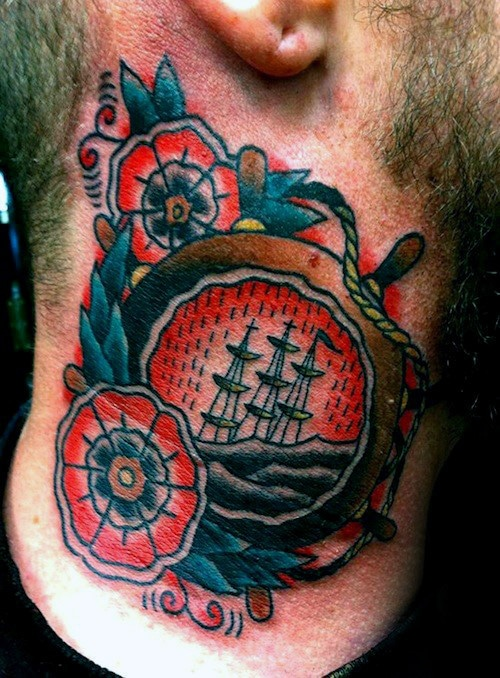 mens-traditional-neck-ship-wheel-tattoos