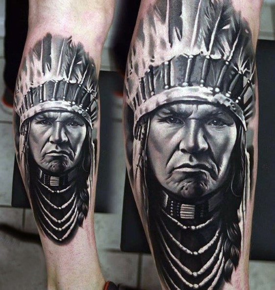 indian-leg-tattoo-ideas-for-men