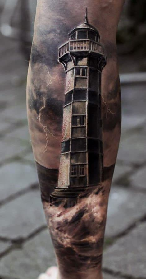 light-house-tattoo-legs
