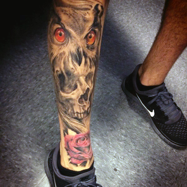 mens-skull-leg-tattoos