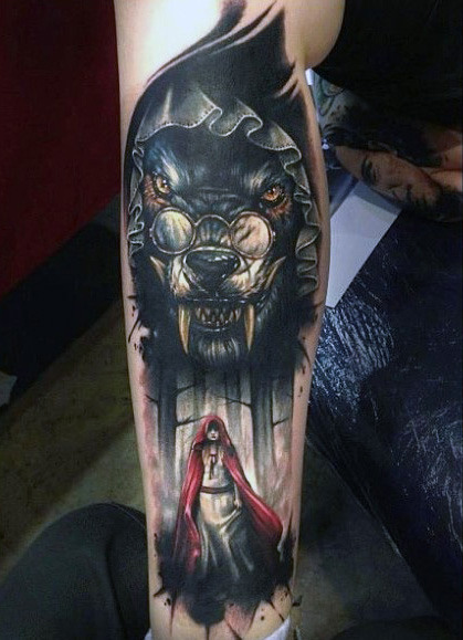 wolf-leg-tattoo-designs
