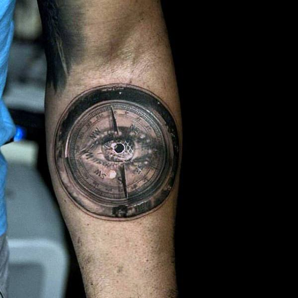 3d-eye-compass-mens-small-unique-inner-forearm-tattoos