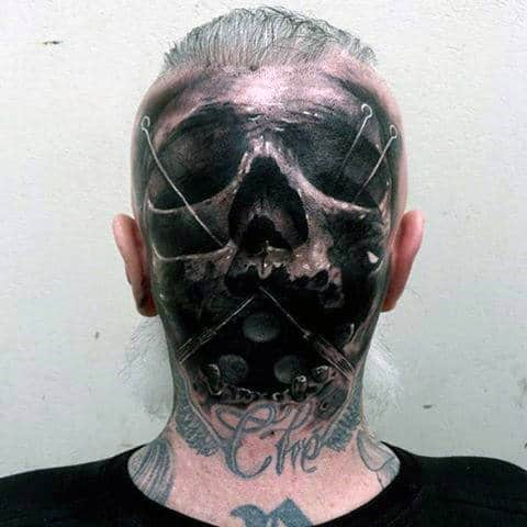 3d-skull-with-pins-guys-back-of-head-realistic-tattoo-ideas