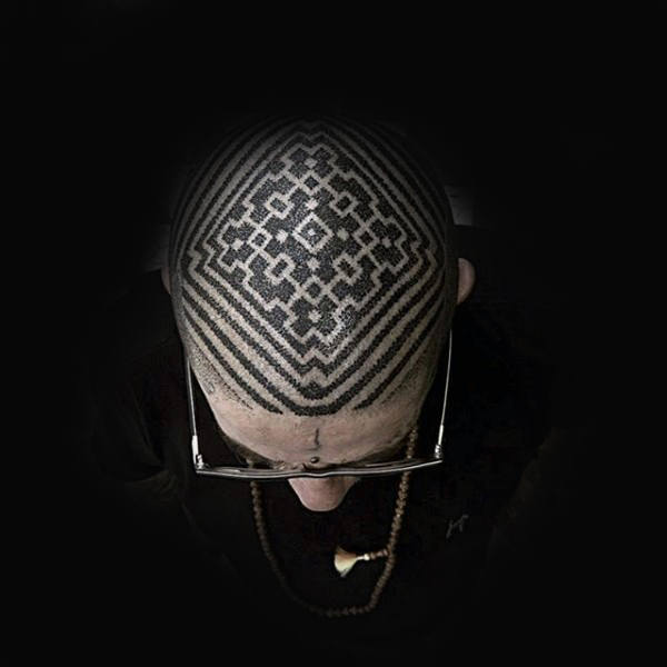 amazing-pattern-male-head-tattoo-with-dotwork-design