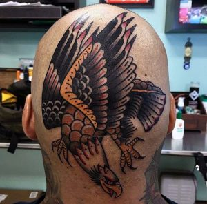 american-traditional-guys-bald-eagle-head-tattoos
