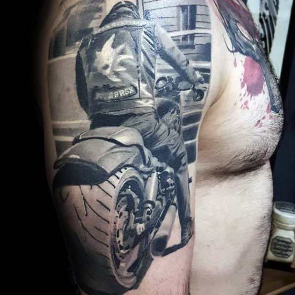 arm-3d-motorcycle-rider-hyper-realistic-mens-tattoo