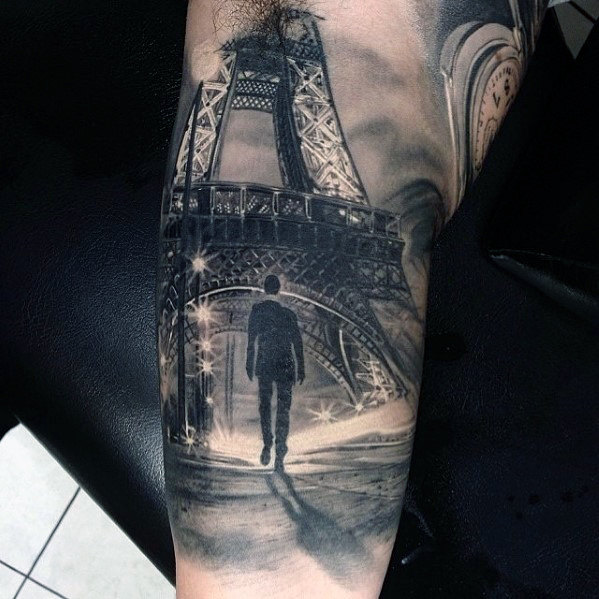 eiffel-tower-hyper-realistic-guys-arm-tattoos