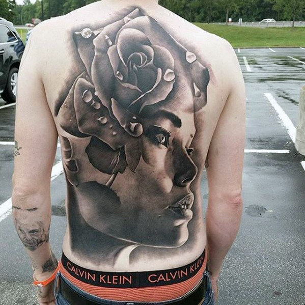 female-portrait-with-rose-flower-badass-3d-male-back-tattoos