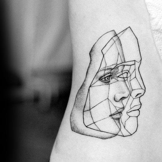 geometric-face-abstract-guys-small-unique-chest-tattoos