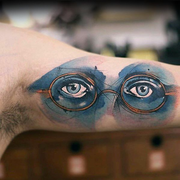 inner-arm-bicep-glasses-with-eyes-watercolor-male-small-unique-tattoos
