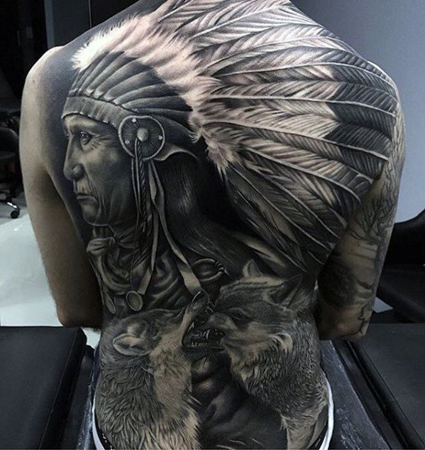 mens-badass-native-american-indian-themed-full-back-tattoos