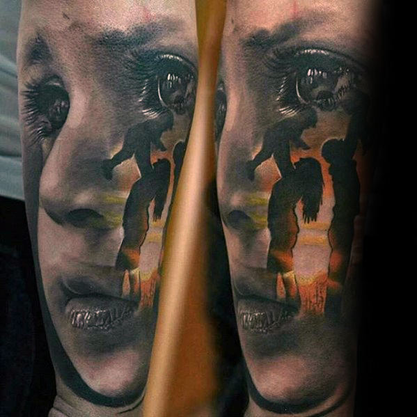 mother-and-child-hyper-realistic-guys-forearm-tattoo