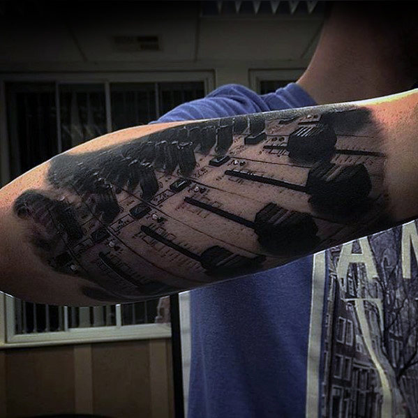 music-production-hyper-realistic-guys-outer-forearm-tattoo