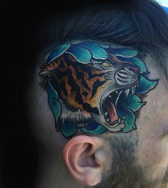 neo-traditional-tiger-head-tattoos-for-men