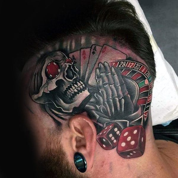 skeleton-praying-with-dice-mens-head-tattoo