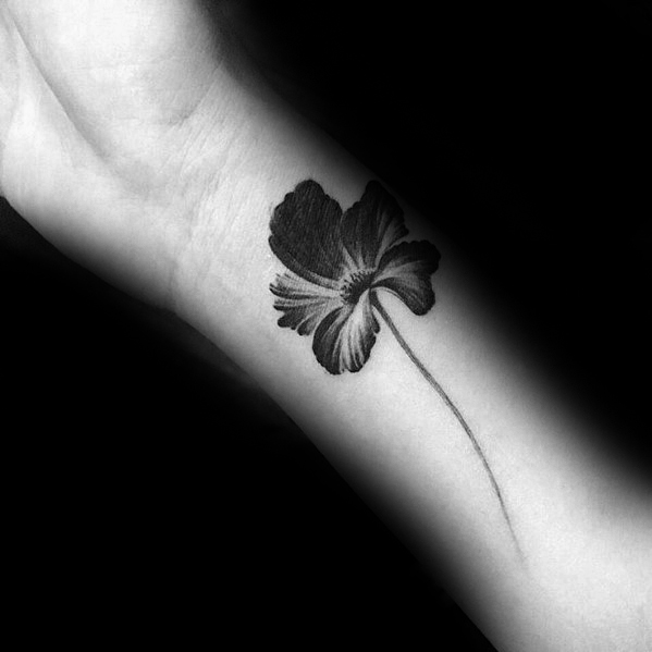 tropical-flower-small-unique-male-forearm-tattoos