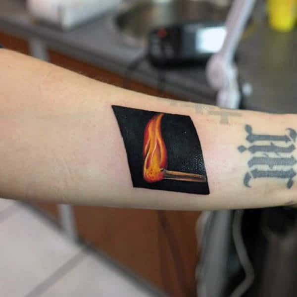 black-ink-background-fire-match-tattoos-for-guys