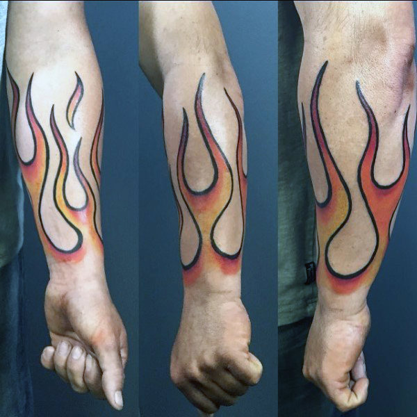 man-with-fire-forearm-tattoo