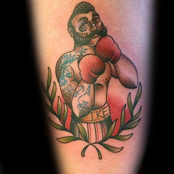olive-branch-with-boxer-mens-arm-traditional-tattoos